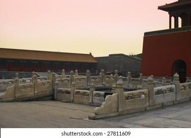 Forbidden city in sunset