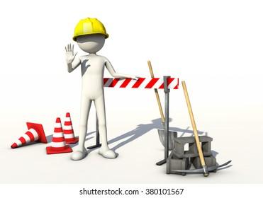 Forbidden construction site