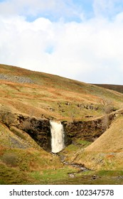 Force Gill Waterfall on the slopes of Whernside, Yorkshires highest mountain.