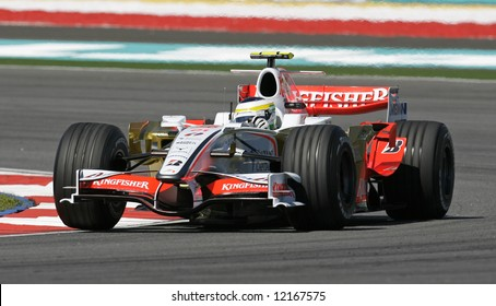 Force India's Italian F1 driver Giancarlo Fisichella