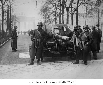 Forces of the Kapp Putsch of March 1920 against the German Weimer Republic government in Berlin. They were followers of Wolfgang Kapp, a prominent nationalist politician who sought and failed to insta