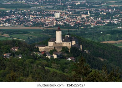 FORCHTENSTEIN/ BURGENLAND/AUSTRIA JUNE 2018 - Forchtenstein Castle - a medieval castle from the 15th century located in the Rosalia mountains in Burgenland, Austria