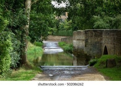 Ford in Geddington Village, Northamptonshire, England