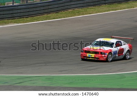 Ford Mustang Gt Race Car Curve Stock Photo Edit Now 1470640