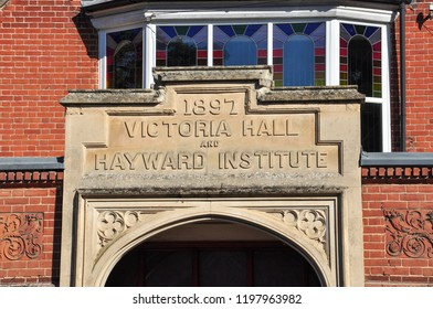 FORDHAM, CAMBRIDGESHIRE/UK - September 29, 2018. Victoria Hall and Hayward Institute building, Carter Street, Fordham, Cambridgeshire, England
