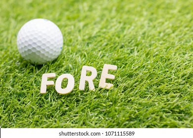 """fore may mean """"(look) ahead """".) Other possible origins include the term being derived from the term """"fore- caddie"""", a caddie waiting down range from the golfer to find where the ball lands"""
