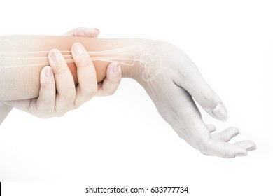forearm injury in humans .forearm pain,joint pains people medical, mono tone highlight at forearm