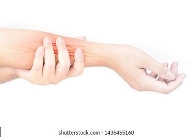 forearm nerve injury white background forearm pain