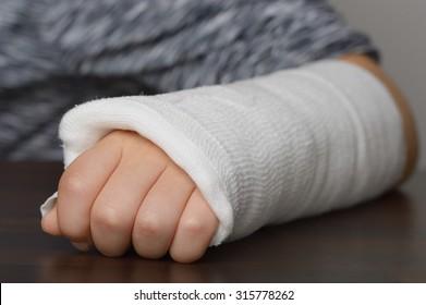 Forearm in plaster