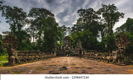 The foreboding entrance to Preah Khan temple in Siem Reap, Cambodia.