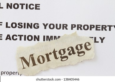 Foreclosed notice on a loan mortgage of a property.
