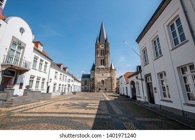 Forecourt of the abbey church in Thorn, Limburg, Netherlands