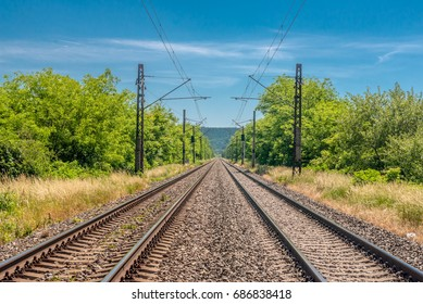 Forehead to main railway speed track