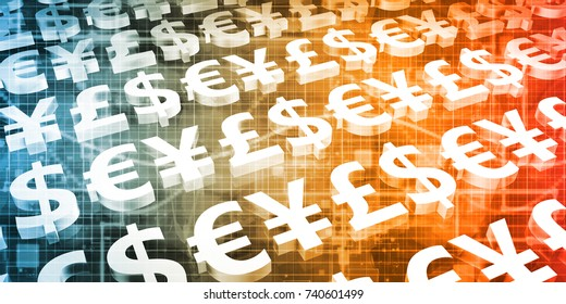 Foreign Exchange or Forex as a Web Concept 3D Illustration Render