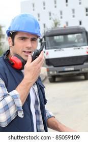 Foreman overlooking work site