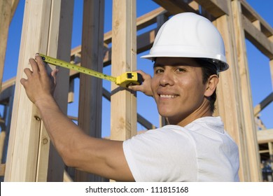 Foreman working at construction site