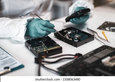 Forensic Expert Working in Forensic Science Laboratory