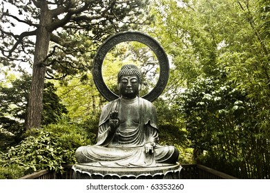 A Forest Buddha Statue