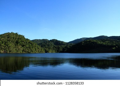 Forest e Lagoon photographed in the city of Cariacica, Espirito Santo, Southeast of Brazil. Atlantic Forest Biome. Picture made in 2012.