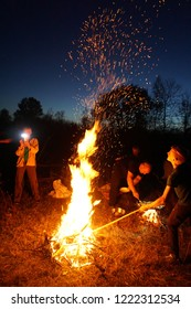 forest fire is a big flame