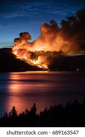 Forest fire in British Columbia