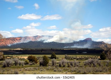 Forest fire near Bryce Canyon, Utah
