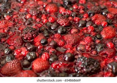 Forest fruit cake.