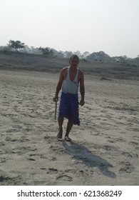 Forest Man of India, Jadav Payeng, in his sandbar