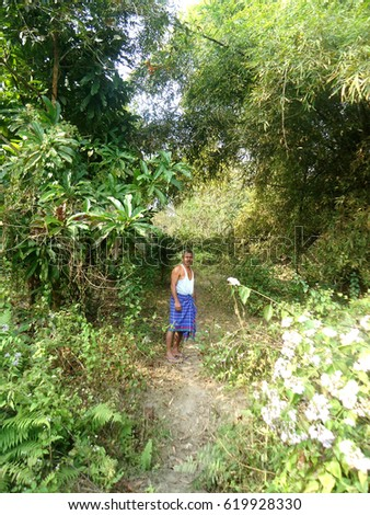 Forest Man of India, Jadav Payeng, in his forest.