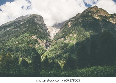 Forest Mountains and clouds Landscape Travel view serene scenery wild nature calm summer atmospheric scene