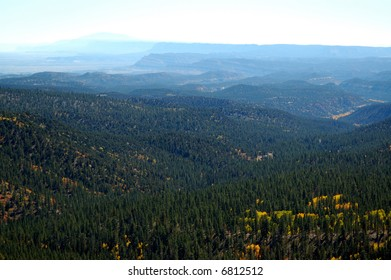 Forest Overlook Near cedar city, Utah in the fall
