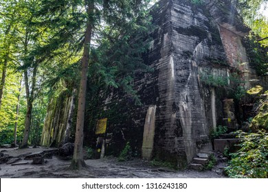 Gierlož forest, Poland-July 22 , 2018: Wolf's Lair, Wolfsschanze, Adolf Hitler's Bunker in Poland. First Eastern Front, one of several military headquarters in World War II