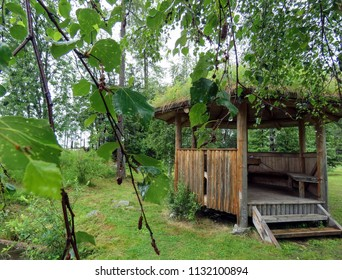 forest summerhouse after the rain