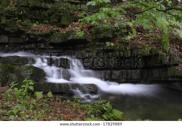 Forest Waterfall On River Mazak Beskydy Stock Photo (Edit