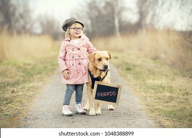 forever friends - child and dog concept