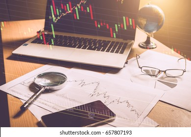 forex. Stock chart. forex trading or stock chart analysis