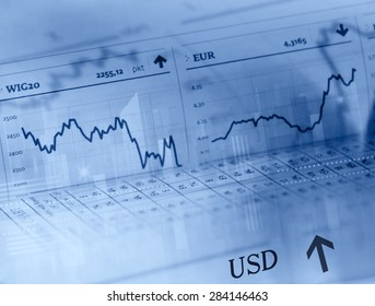 Forex trading business concept
