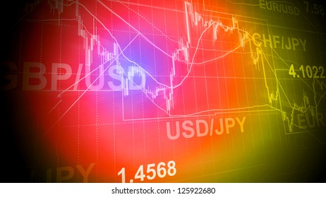 Forex trading business concept in color