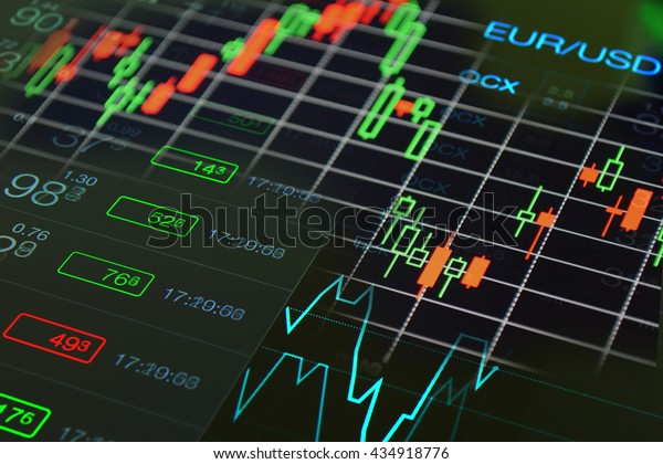 Forex Trading Concept Forex Charts Graph Stock Photo (Edit