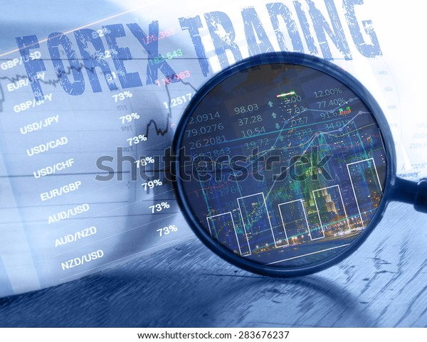 Forex Trading Concept. Currency exchange in the backround