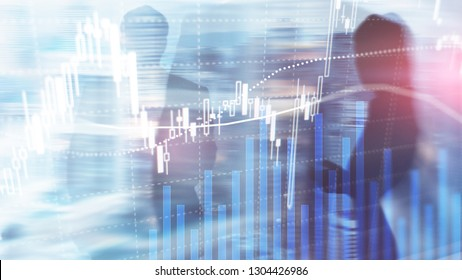 Forex trading, Financial market, Investment concept on business center background - Shutterstock ID 1304426986