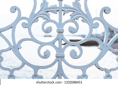 Forged fence with a sea view