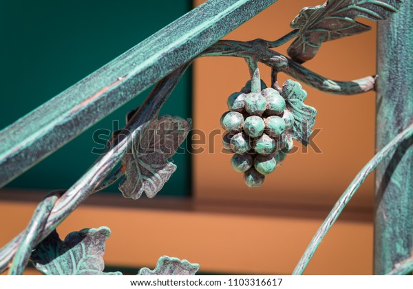 Forged metal bunch of grapes interior decoration