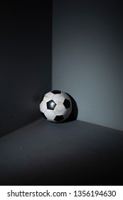 forgot soccer ball in the corner