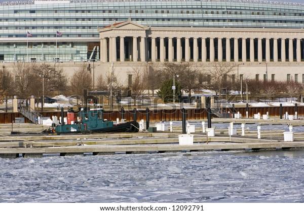 Forgotten boat in the marina - Chicago, Il.
