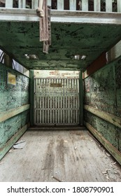 Forgotten freight elevator left abandoned in factory in deep south