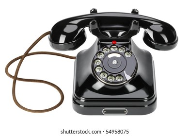 A forgotten old bakelite wired phone in recent times