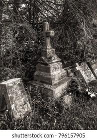 Forgotten tombstones of Ile d'orleans, Quebec