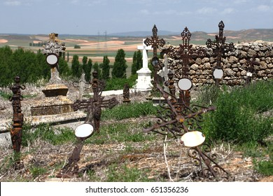 Forgotten,Half abandoned cemetery in the town of Morón, Soria, spain, Suicide, depression, anguish, loneliness, fear, death, addiction, pain, emptiness, anxiety, sadness, grief, pain, imprisonment,