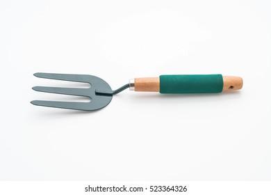 Fork harrows on white background